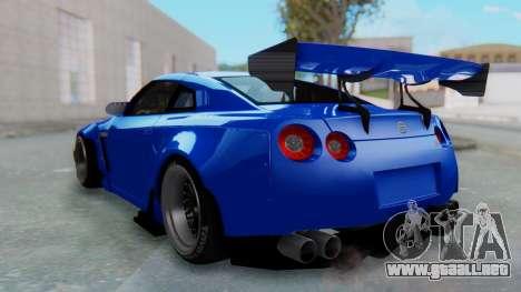 Nissan GT-R R35 Rocket Bunny para GTA San Andreas left