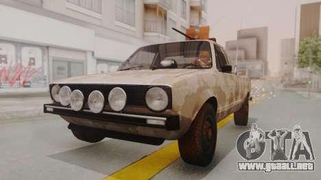 Volkswagen Caddy Military Vehicle para la visión correcta GTA San Andreas