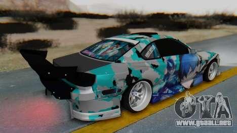 Nissan Silvia s15 Itasha [EDE-Crew] para GTA San Andreas vista posterior izquierda