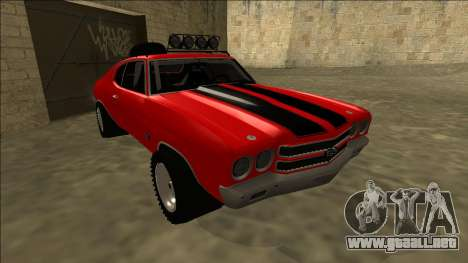 Chevrolet Chevelle Rusty Rebel para GTA San Andreas left