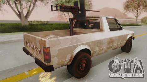 Volkswagen Caddy Military Vehicle para GTA San Andreas left