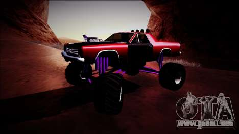 Picador Monster Truck para GTA San Andreas left