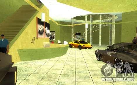 La reactivación de la concesionaria de automóvil para GTA San Andreas tercera pantalla