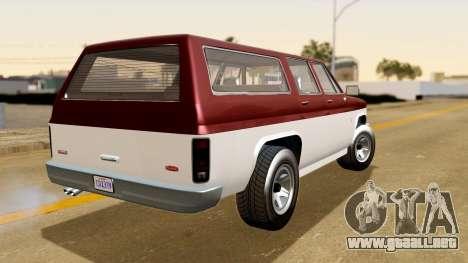 GTA 5 Declasse Rancher XL IVF para GTA San Andreas left