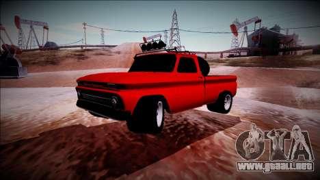 Chevrolet C10 Rusty Rebel para GTA San Andreas vista hacia atrás