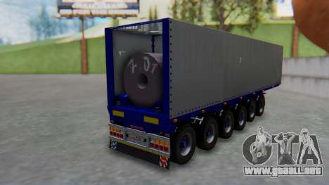 Trailer Colis Blue para GTA San Andreas left