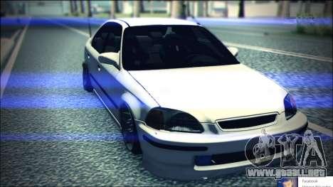 Honda Civic by Snebes para GTA San Andreas vista hacia atrás