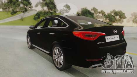 Hyundai Sonata Turbo 2.0 2015 V1.0 Final para GTA San Andreas left