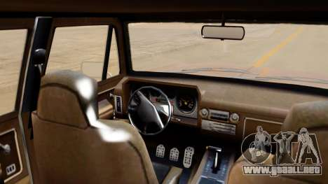 GTA 5 Declasse Rancher XL IVF para GTA San Andreas vista posterior izquierda