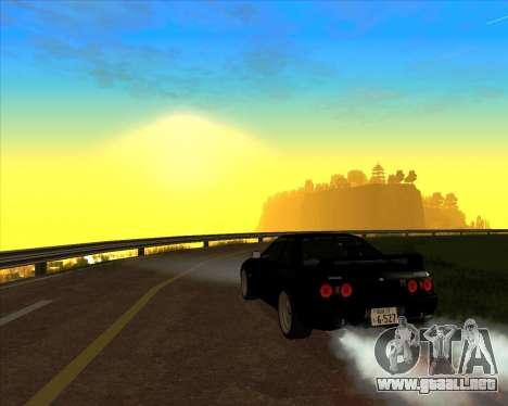 Nissan Skyline GT-R BNR32 Initial D Legend 2 N.K para visión interna GTA San Andreas