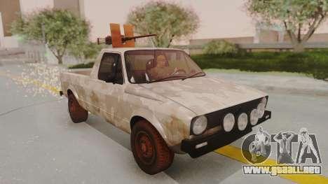 Volkswagen Caddy Military Vehicle para GTA San Andreas