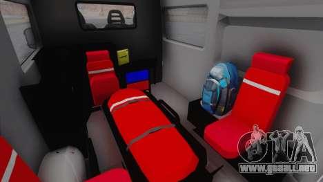 Fiat Ducato Turkish Ambulance para GTA San Andreas vista hacia atrás