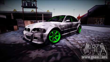 BMW M3 E46 Drift Monster Energy para visión interna GTA San Andreas