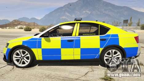 GTA 5 2014 Police Skoda Octavia VRS Hatchback vista lateral izquierda