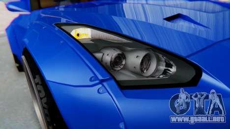 Nissan GT-R R35 Rocket Bunny para visión interna GTA San Andreas