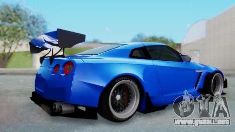 Nissan GT-R R35 Rocket Bunny para la visión correcta GTA San Andreas