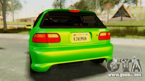 Honda Civic Vti 1994 V1.0 para vista lateral GTA San Andreas