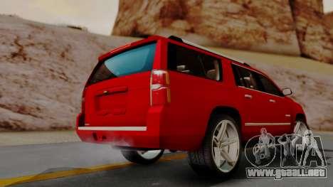 Chevrolet Suburban 2015 LTZ para GTA San Andreas left