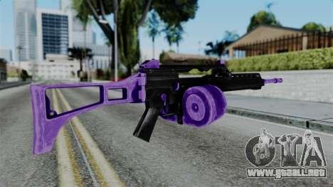 Purple M4 para GTA San Andreas segunda pantalla