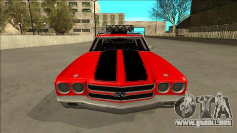 Chevrolet Chevelle Rusty Rebel para la vista superior GTA San Andreas