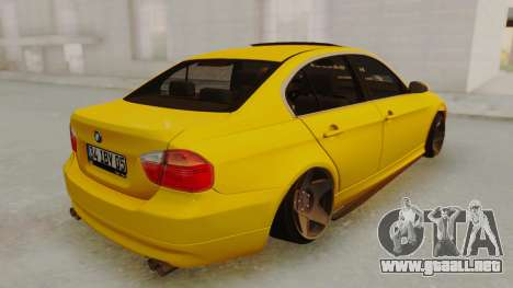BMW M3 E90 para GTA San Andreas vista posterior izquierda