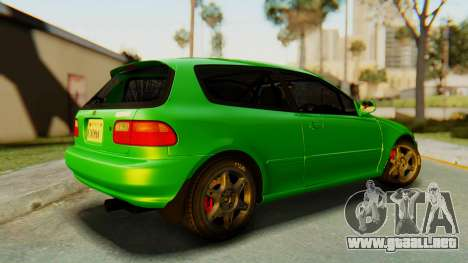 Honda Civic Vti 1994 V1.0 para GTA San Andreas left