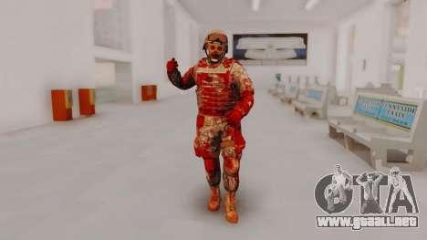 Zombie Military Skin para GTA San Andreas segunda pantalla