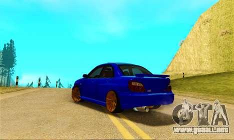 Subaru Impreza WRX STI Spec-C para GTA San Andreas vista posterior izquierda