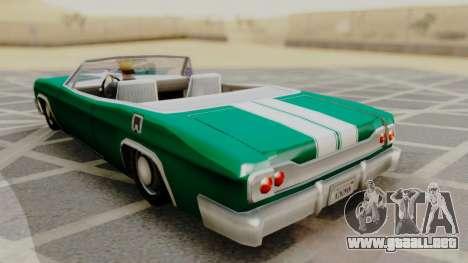 Blade F&F3 Mustang PJ para GTA San Andreas left