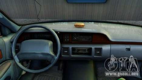 Chevrolet Caprice 1993 para GTA San Andreas vista hacia atrás