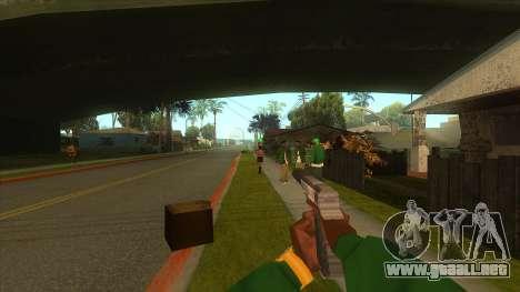 La primera persona a la v3.0 para GTA San Andreas octavo de pantalla