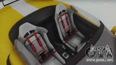 GTA 5 Bravado Banshee 900R Tuned para GTA San Andreas vista hacia atrás