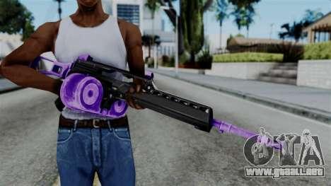 Purple M4 para GTA San Andreas tercera pantalla