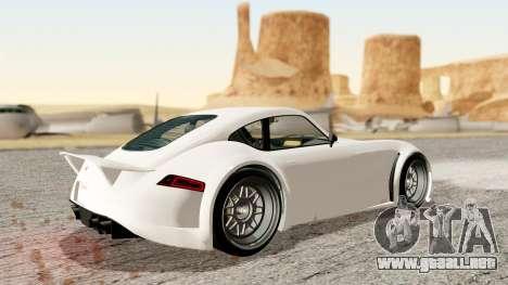 GTA 5 Bravado Verlierer Stock para GTA San Andreas vista posterior izquierda