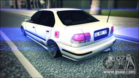 Honda Civic by Snebes para la visión correcta GTA San Andreas