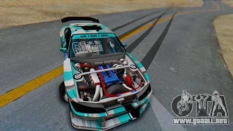 Nissan Silvia s15 Itasha [EDE-Crew] para visión interna GTA San Andreas