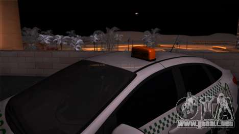 Ford Focus Taxi Tatarstán para GTA San Andreas vista posterior izquierda