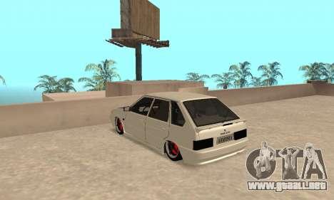 Vaz 2114 Armenian para GTA San Andreas vista posterior izquierda