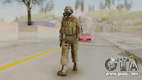 US Army Urban Soldier Gas Mask from Alpha Protoc para GTA San Andreas segunda pantalla