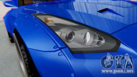Nissan GT-R R35 Rocket Bunny para vista lateral GTA San Andreas