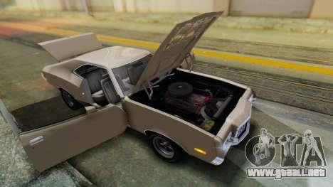 Ford Gran Torino Sport SportsRoof (63R) 1972 PJ2 para GTA San Andreas vista hacia atrás