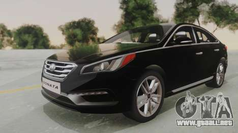 Hyundai Sonata Turbo 2.0 2015 V1.0 Final para GTA San Andreas