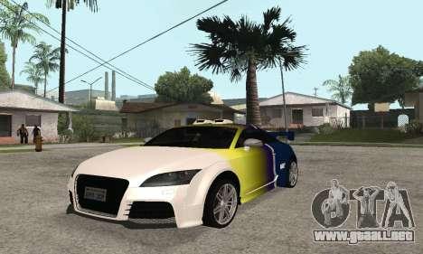 Audi TT-RS Tunable para vista lateral GTA San Andreas