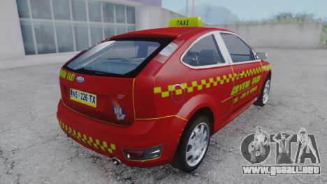 Ford Focus ST Taxi para GTA San Andreas left