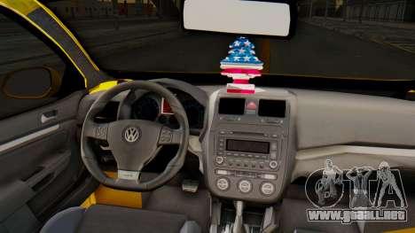 Volkswagen Jetta para GTA San Andreas vista hacia atrás