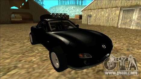 Mazda RX-7 Rusty Rebel para vista lateral GTA San Andreas