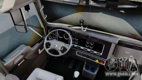Kenworth T800 38s Flat Top para visión interna GTA San Andreas