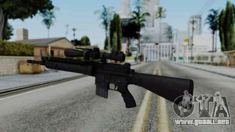 Arma AA MK12 SPR para GTA San Andreas segunda pantalla