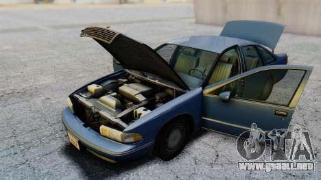 Chevrolet Caprice 1993 para visión interna GTA San Andreas