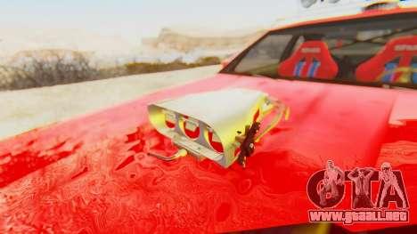 Virgo v2.0 para GTA San Andreas vista hacia atrás